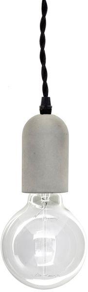 Kikkerland Závěsné svítidlo Cylinder, beton
