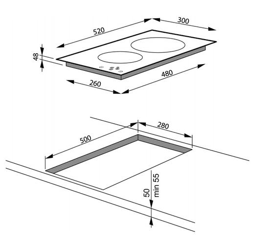 Amica indukcijska plošča PI3510U Domino (23343)