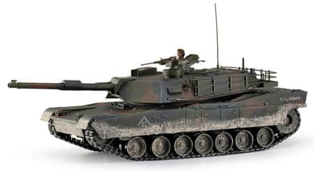 Hobby Engine M1A1 Abrams Távirányítós tank, 1:16, 2,4 GHz, Patinásított
