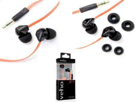 Veho slušalke Z-1 VEP-003-360Z1 črna/oranžna