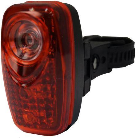 Olpran 3 super červené LED zadné čierna