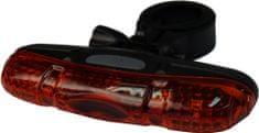 Olpran lampka tylna 5 super red LED black