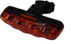 Olpran 5 červené LED zadní černé