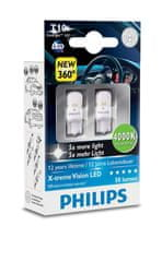 Philips Żarówki  X-tremeVision LED T10, ciepła biel, 4000 K (2 szt.)