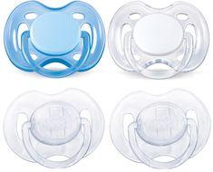 Avent Šidítko SENSITIVE 0-6m. bez BPA, 2 × 2 kusy, modrá/bílá