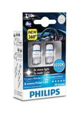 Philips X-tremeVision LED T10, chladná modrá, 8000 K, 2 ks