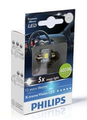 Philips X-tremeVision LED C5W 30 mm, jasná biela, 4000 K, 1 ks