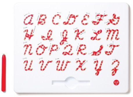 Montessori pomůcky Magnetická tabulka - Velké psací písmo