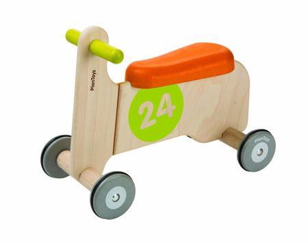 Plan Toys Jezdící motorka zelená