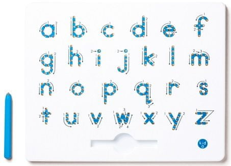 Montessori pomůcky Magnetická tabulka - Malé tiskací písmo