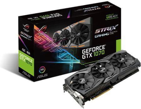 Asus grafička kartica GTX 1070, 8GB GDDR5, PCI-E 3.0 (STRIX-GTX1070-O8G-GAMING)