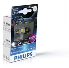 Philips X-tremeVision LED C5W 38 mm, denní světlo, 6000 K, 1 ks