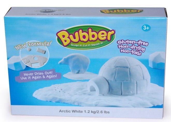 Montessori pomůcky Modelovací hmota Bubber 1,2 kg - bílá