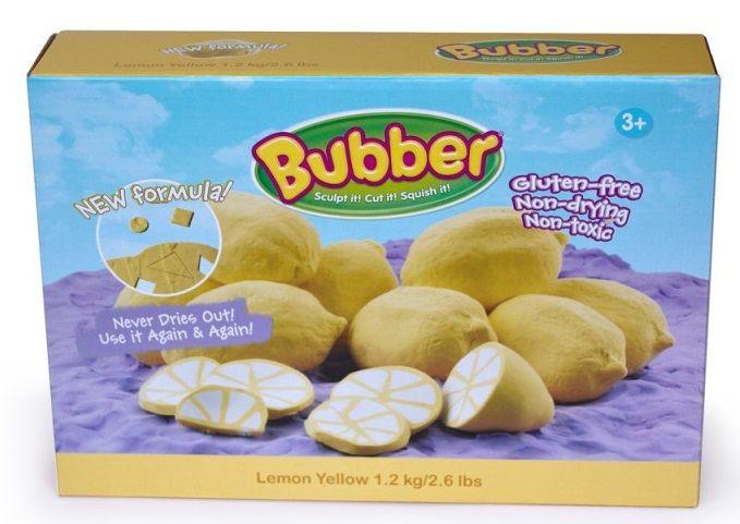 Montessori pomůcky Modelovací hmota Bubber 1,2 kg - žlutá