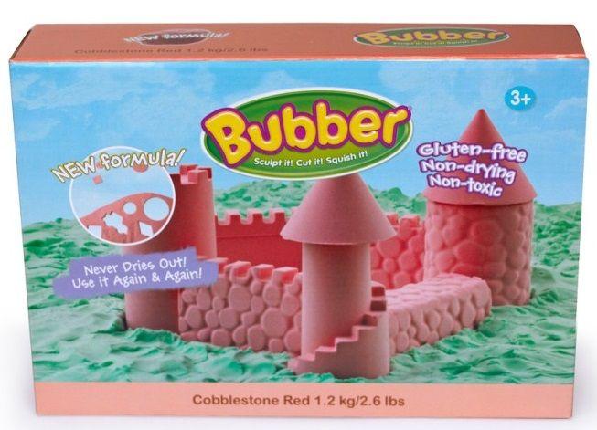 Montessori pomůcky Modelovací hmota Bubber 1,2 kg - červená