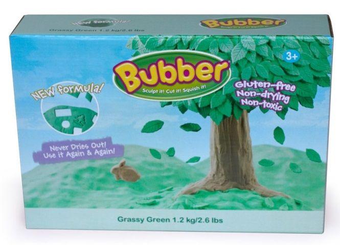 Montessori pomůcky Modelovací hmota Bubber 1,2 kg - zelená
