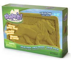 Montessori pomůcky Shape it! písek - žlutý (2,3 kg)