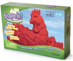 Montessori pomůcky Shape it! písek - červený (2,3 kg)
