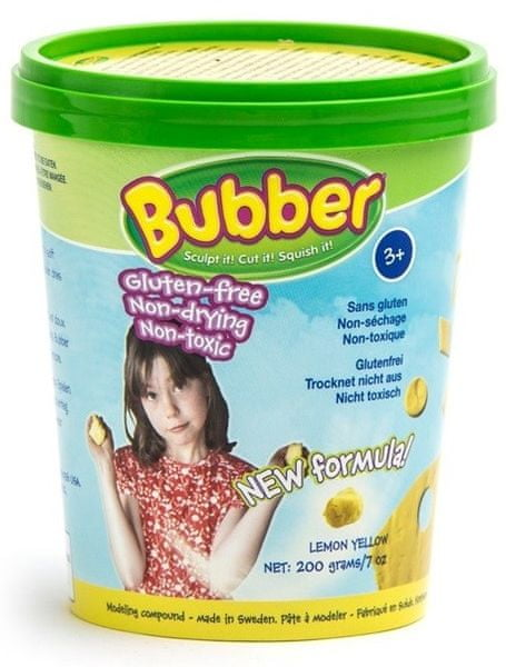 Montessori pomůcky Modelovací hmota Bubber 200g - žlutá