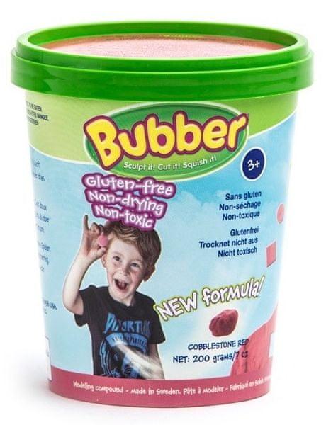 Montessori pomůcky Modelovací hmota Bubber 200g - červená