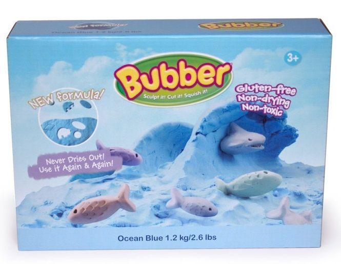 Montessori pomůcky Modelovací hmota Bubber 1,2 kg - modrá