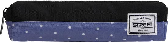 Street okrugla pernica Tube Dots, plavo-crna
