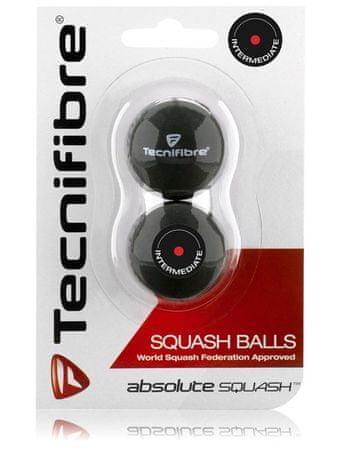 Tecnifibre žogice z rdečo piko Absolute Squash, 2 kosa