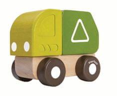 Plan Toys Mini śmieciarka, drewniana