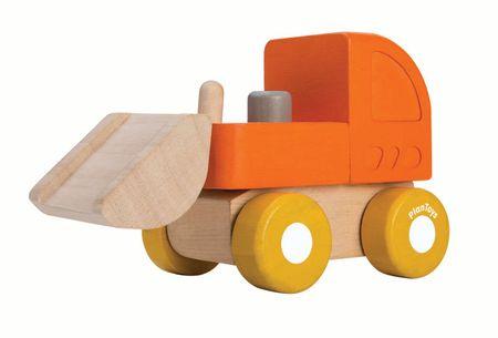 Plan Toys Mini spychacz, drewniany