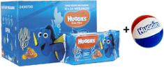 Huggies Dory Natural Care törlőkendő, 10x56 db + Ajándék labda