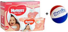Huggies Nawilżane chusteczki Soft Skin 10 x 56 szt.