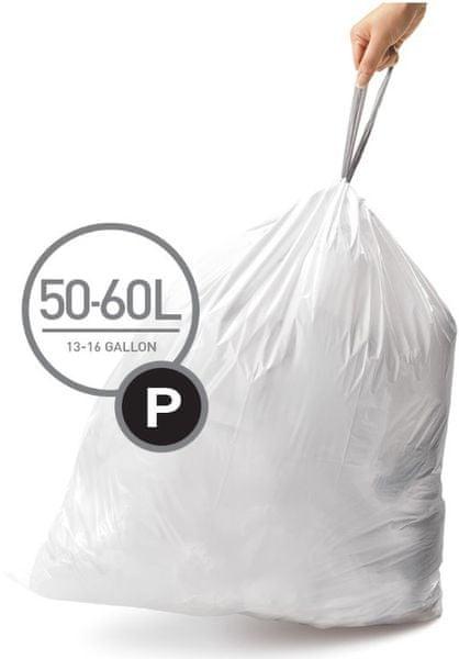 Simplehuman Sáčky do koše typ P (50-60 l) 20 ks