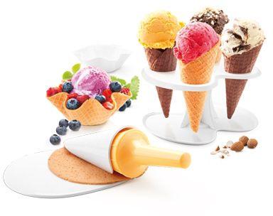 Tescoma Souprava na zmrzlinové kornouty a košíčky DELLA CASA