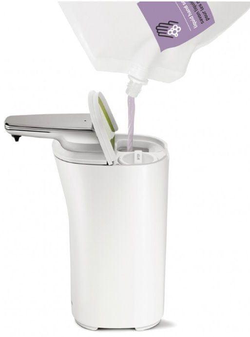 Simplehuman Bezdotykový dávkovač mýdla 222 ml bílá