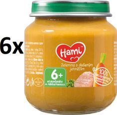 Hami Zelenina s dušeným jehněčím - 6 x 125g