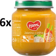 Hami Zelenina s krůtou - 6 x 125g