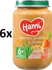 Hami Zelenina s jehněčím a jáhlami - 6 x 200g