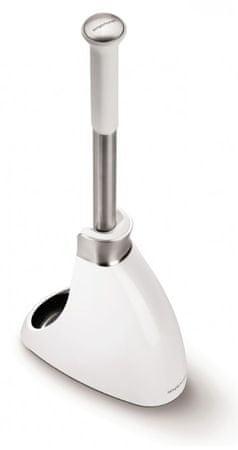 Simplehuman WC kartáč se stojanem biela