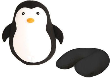 Kikkerland Zip&Flip cestovný vankúš Tučniak