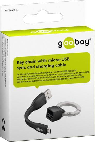 Goobay adapter v obliki obeska za ključ micro USB - USB