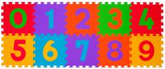 BabyOno Puzzle pěnové číslice 10 ks