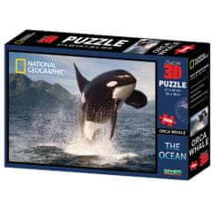 National Geographic sestavljanka 3D - Orka, 500 kosov, 61x46 cm