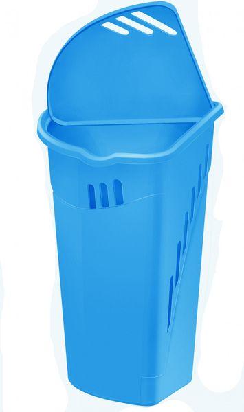 Heidrun Rohový koš na špinavé prádlo 35 l modrý
