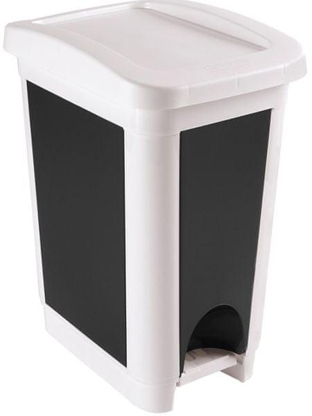 Heidrun Odpadkový koš 50 l bílá