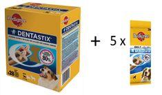 Pedigree zestaw: Dentastix dla psów małych ras (28 szt)+ Dentastix (15 szt)