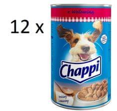 Chappi mokra karma dla psa w puszce, z wołowiną- 12 x 1200g