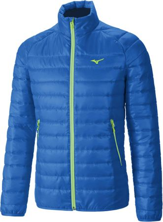 Mizuno Breath Thermo Padded Jacket SkyDiver/Green Gecko L