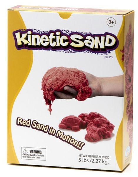 Montessori pomůcky Kinetický písek 2,3 kg - červený