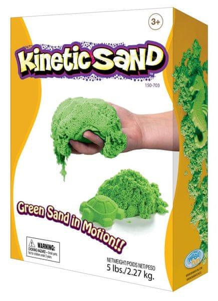 Montessori pomůcky Kinetický písek 2,3 kg - zelený