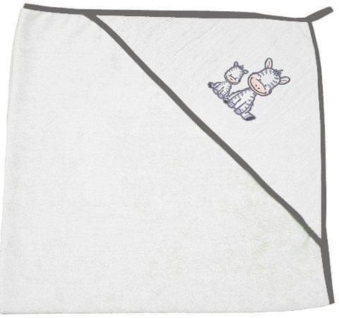 EKO Bambusová osuška s kapucí froté 100x100 cm - bílá
